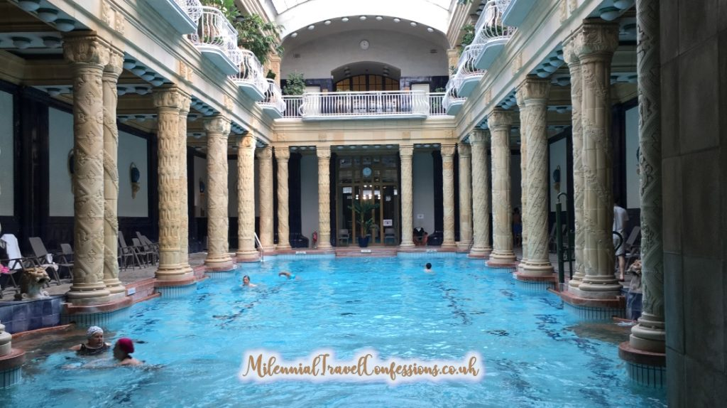 Main Pools inside Gellert Baths Spa Budapest things to do in Budapest