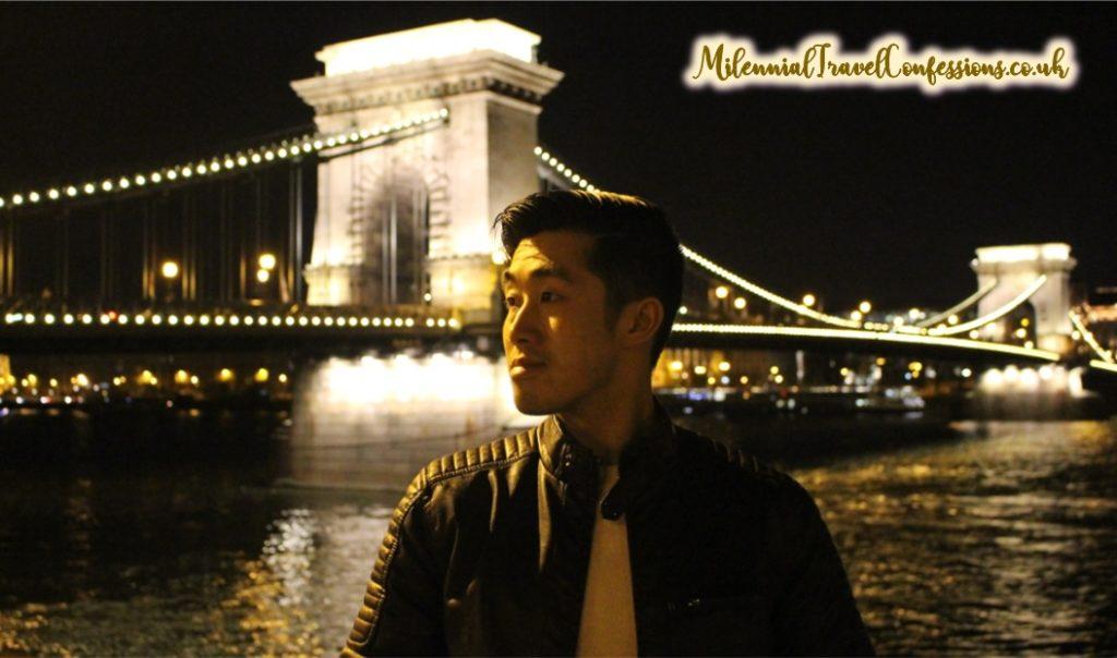 Chain Bridge Budapest Hungary at night