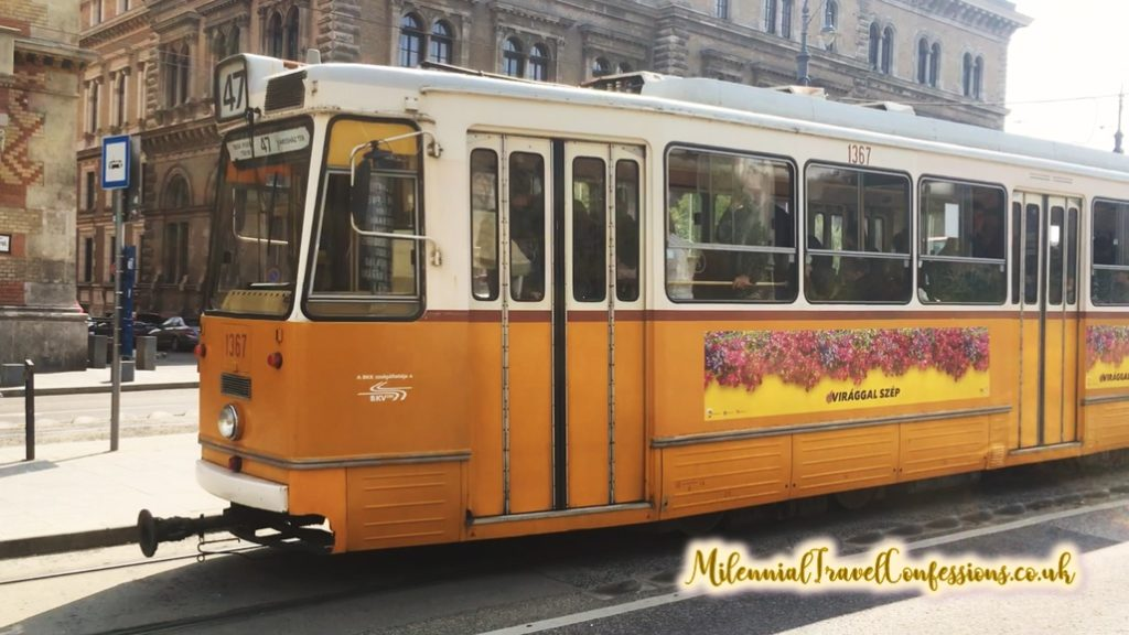 Hungary public transport Budapest tram